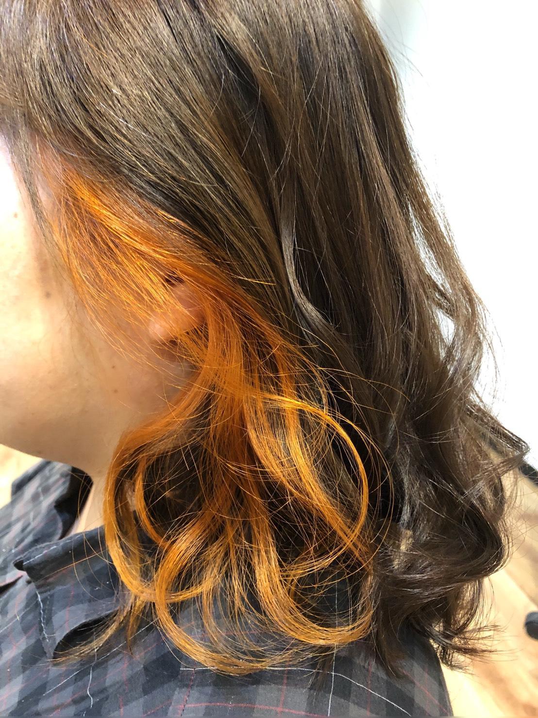 S  31023118 - イヤリングカラー×ハニーオレンジ